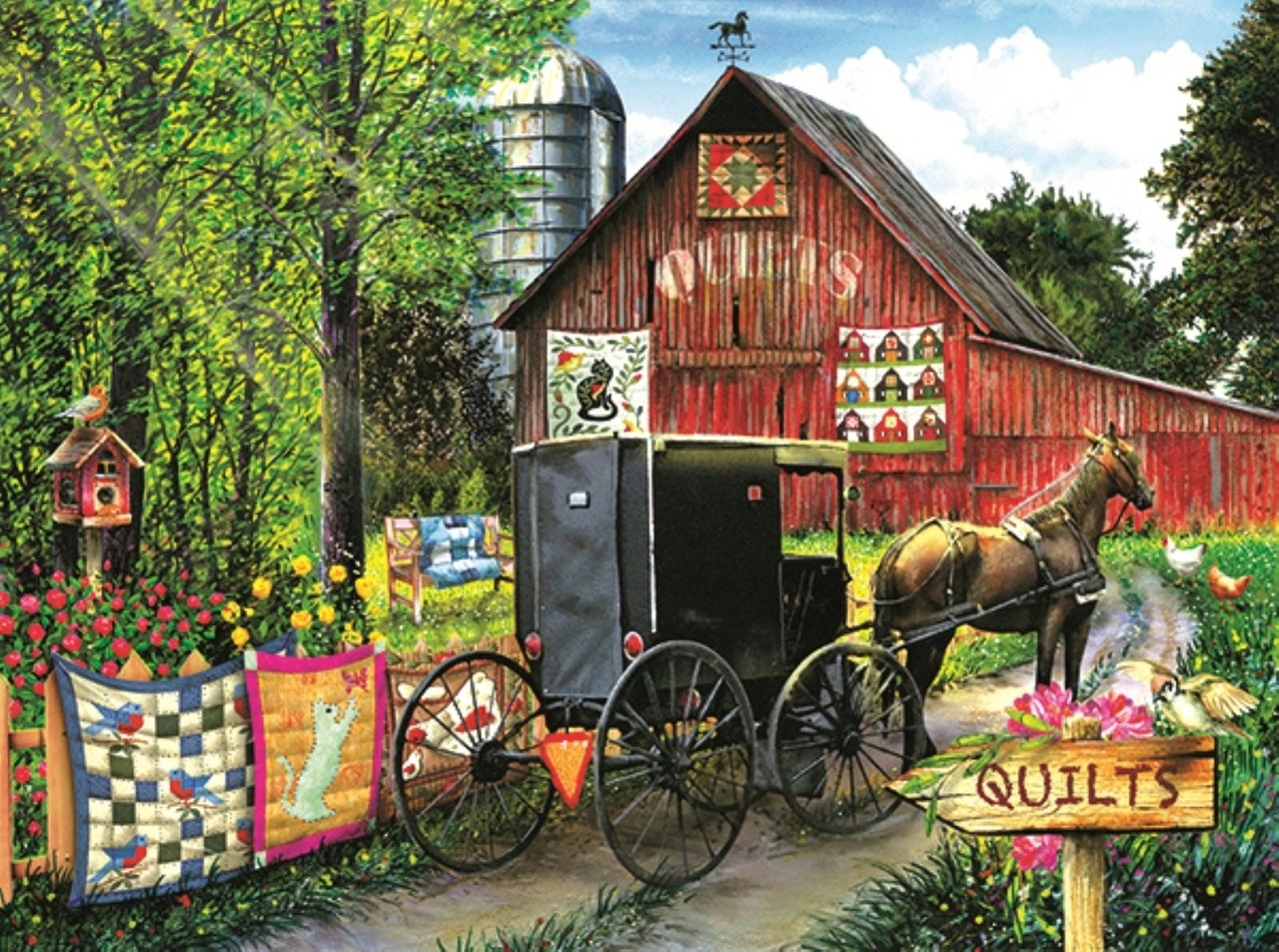 Amish Quilt Sale 1000pc puzzle