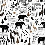 Paper Art Safari 51141-3 White Safari Scene