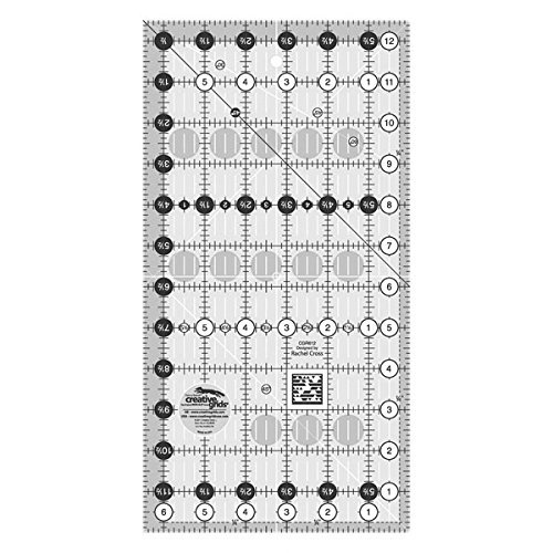 Creative Grids Quilt Ruler 6-1/2in x 12-1/2in CGR612