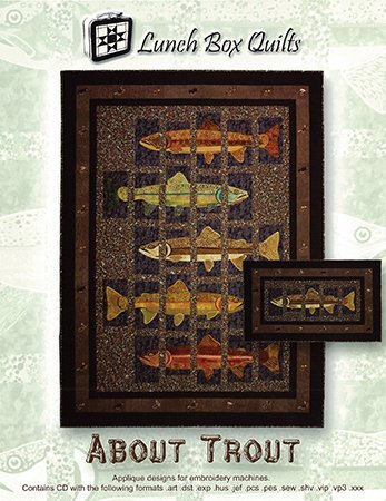 About Trout Quilt Pattern with CD LBQ QP-AT-1