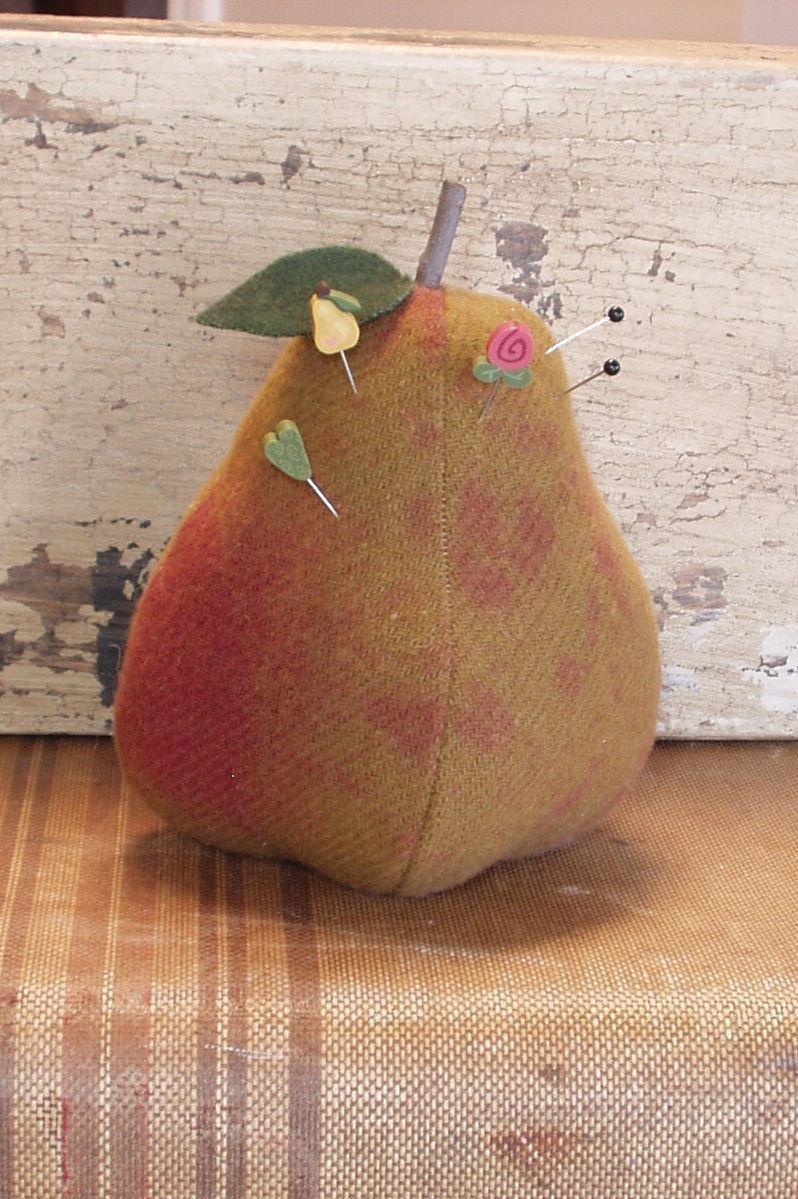 #610 Pear Pincushion - 5 1/2