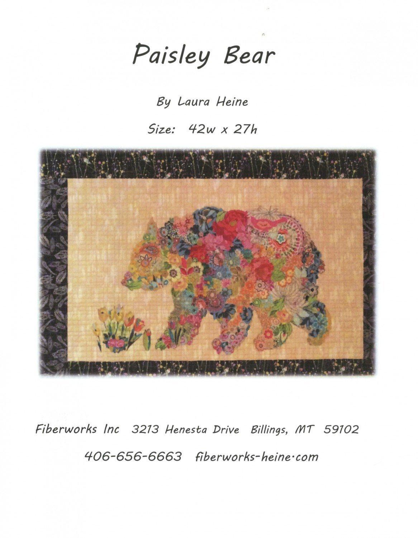 Paisley Bear 42 by 27  Pattern/Laura Heine