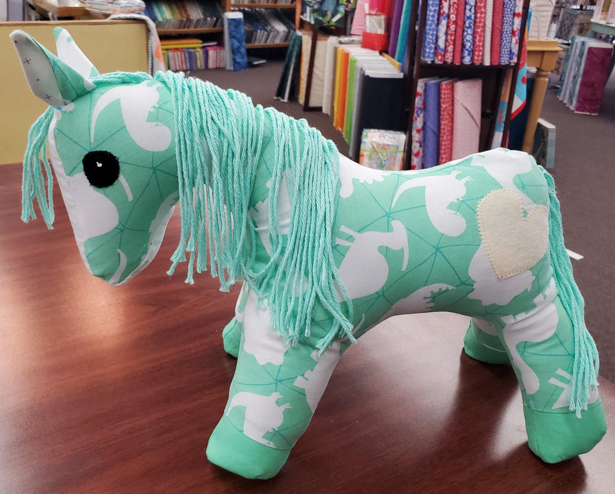 A Herd For Hugs - Mint Dinosaur Calico Horse Kit