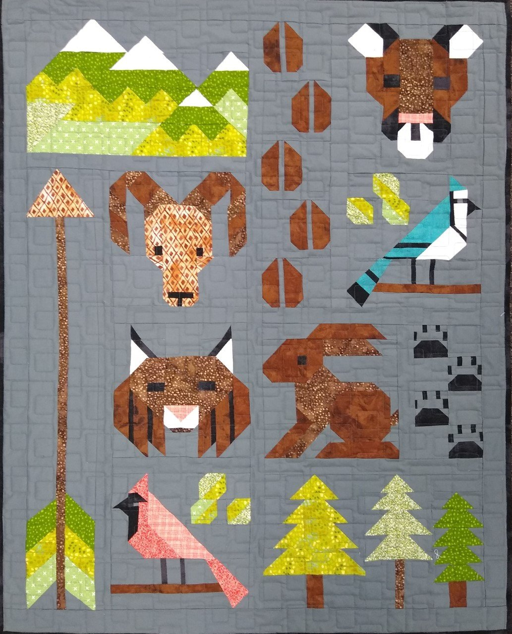 Forest Friends Baby Quilt Kit 37 X 45