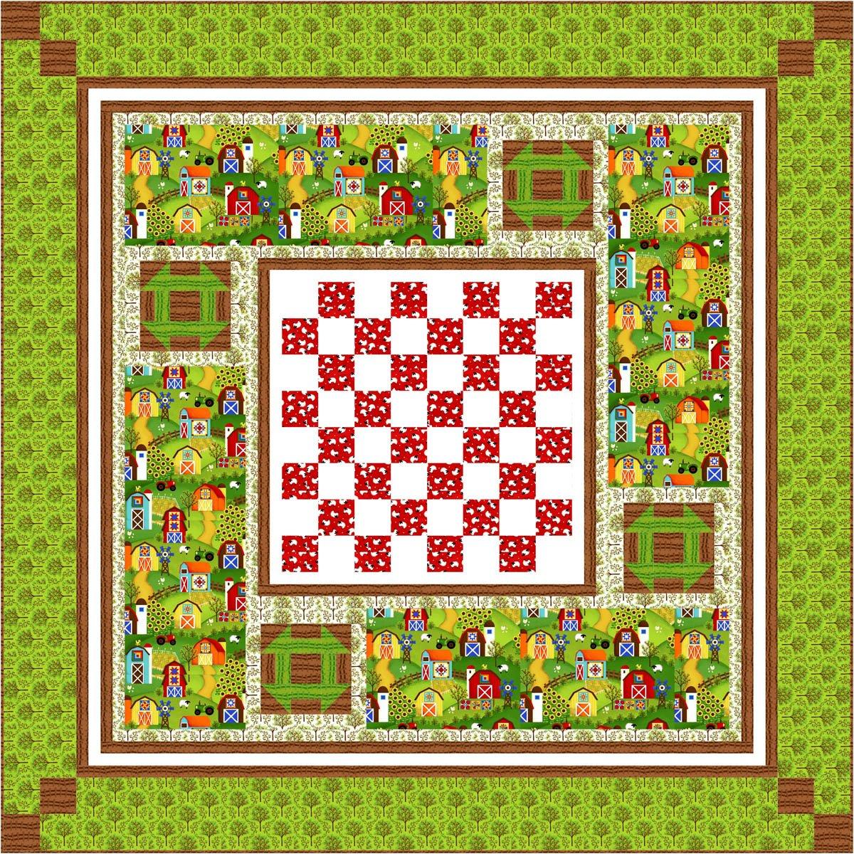 Barnyard Quilts Kit 70 x 70