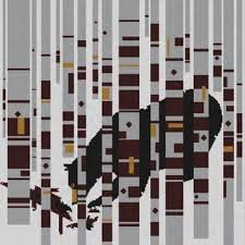Bear in the Birches Pattern 50'x50