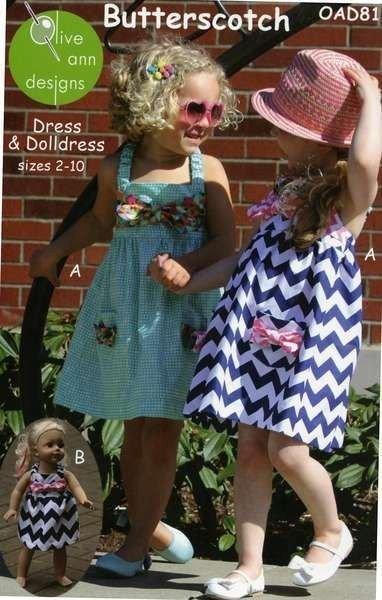 Butterscotch Dress & Doll Dress OAD81 Pattern