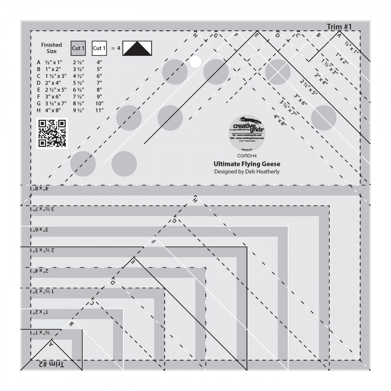 Creative Grids Ultimate FLying Geese Tool CGRDH4
