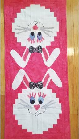 Bunny Runner Table Runner Creative Grid Pattern