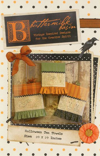 Halloween Tea Towels 20 by 29 Pattern
