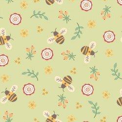 Bumble Garden F1399 66 Green Bumble Bees