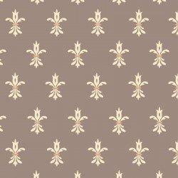 Bumble Garden F1403 90 Grey Fleur de Lis Flannel