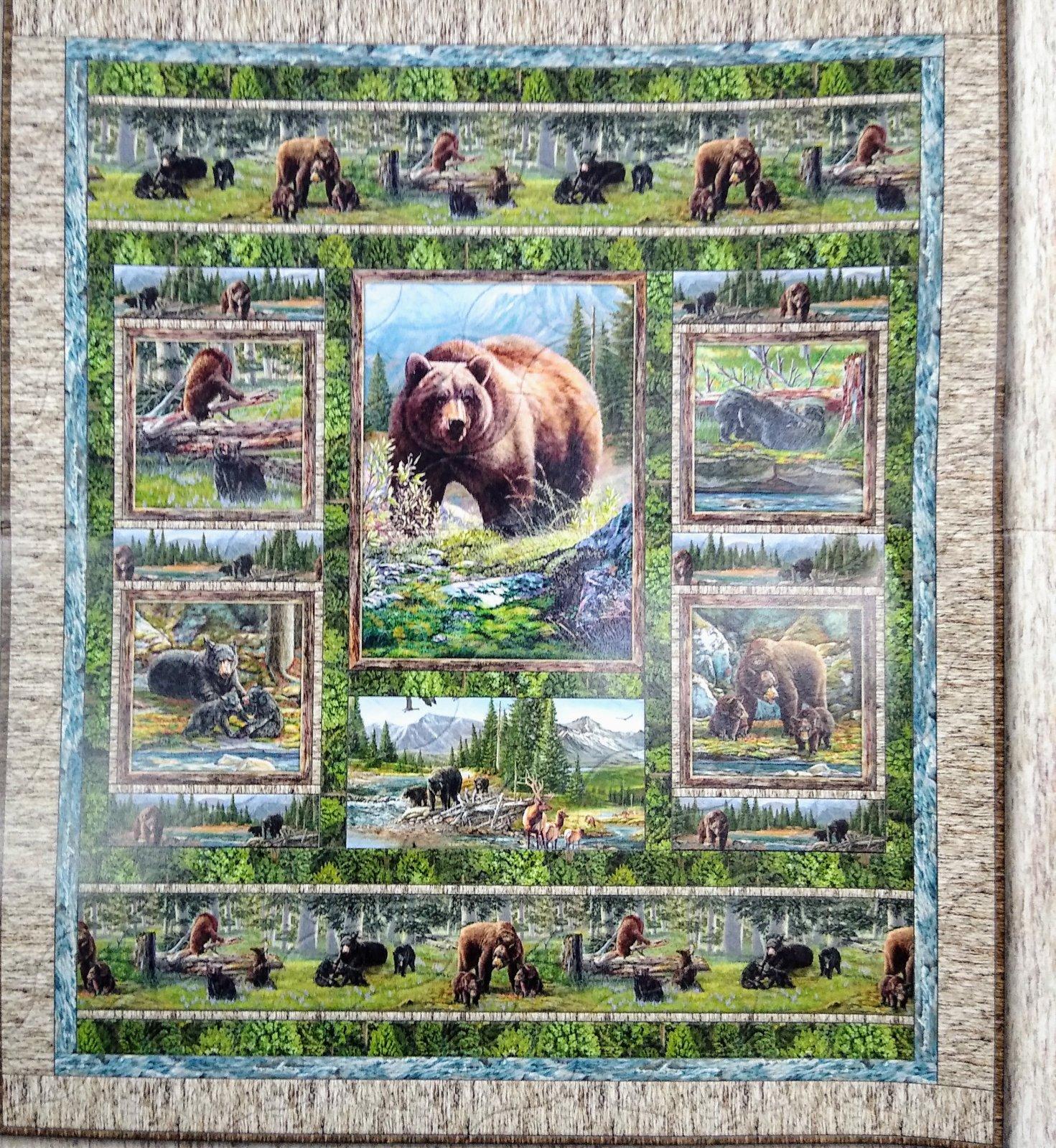 Bear Meadow Quilt Kit 55 1/2 X 65 1/2