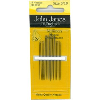 John James Milliners / Straw Needles Assorted Sizes 5/10 16ct