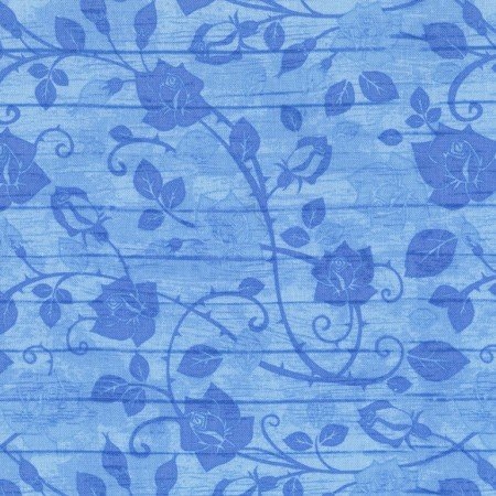 Bohemian Blues JN-C5774 Aqua Floral on Wood