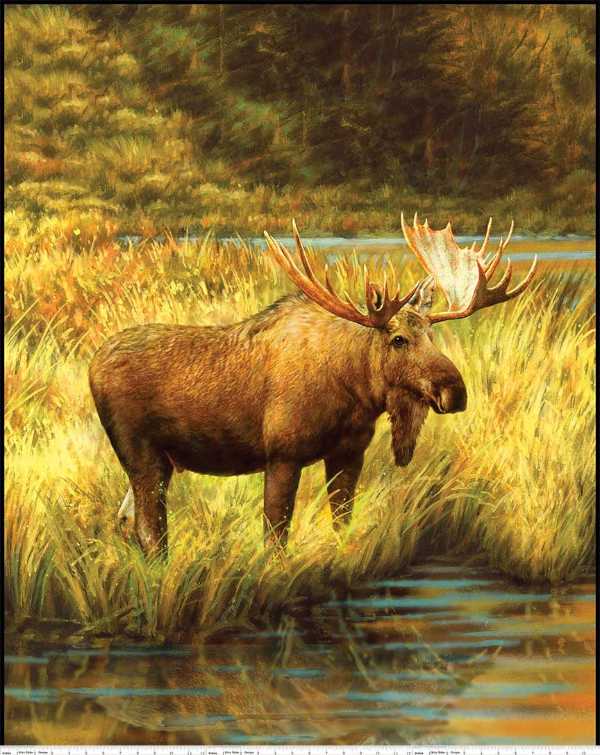 Majestic Outdoors 2  Moose PD6480 (Panel 35 X 44)