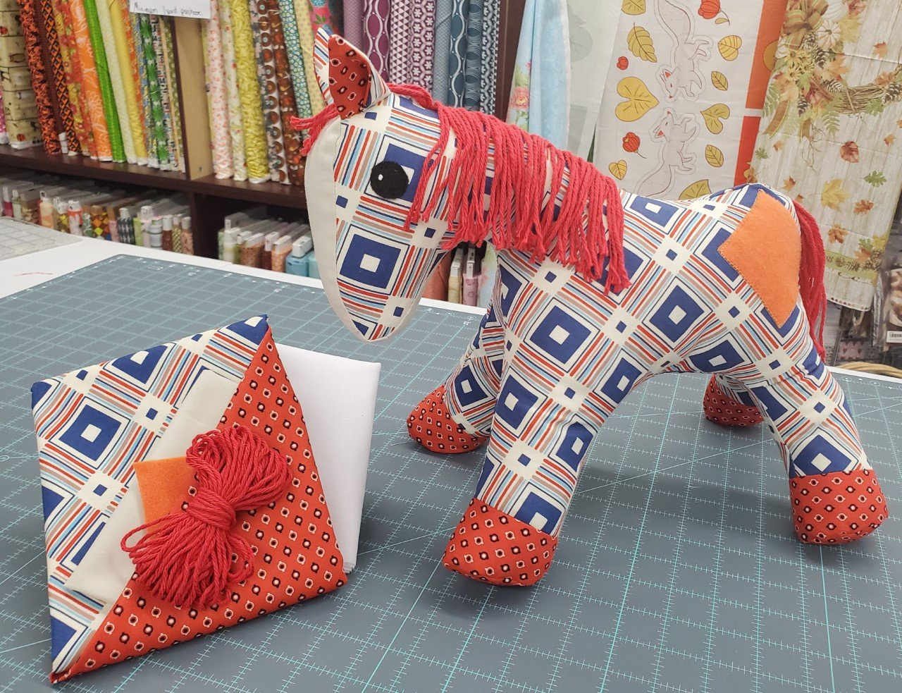 A Herd for Hugs - Plaid Calico Horse Kit