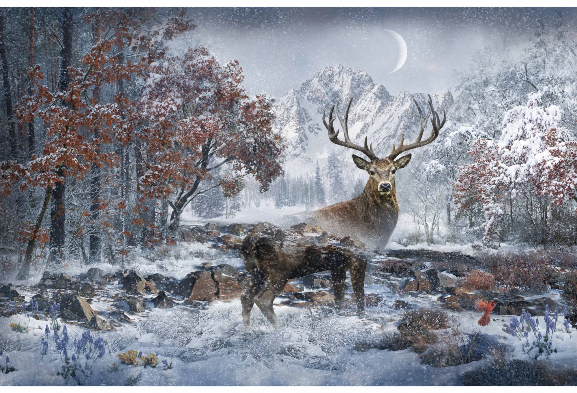Call of the Wild W4460 297 December (Stag Panel 28x44)