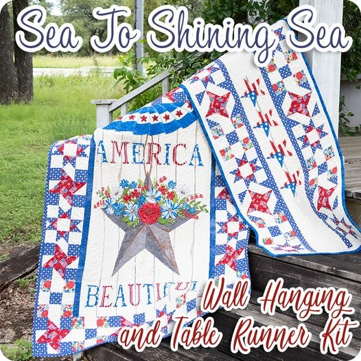 America the Beautiful Wall Quilt and Table Runner