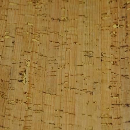 Cork Fabric 25in Wide Natural w/Gold Metallic