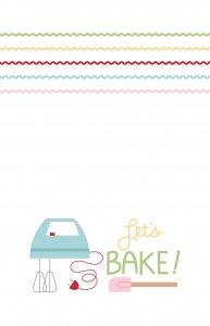 Let's Bake! Tea Towel Lori Holt TT-8552