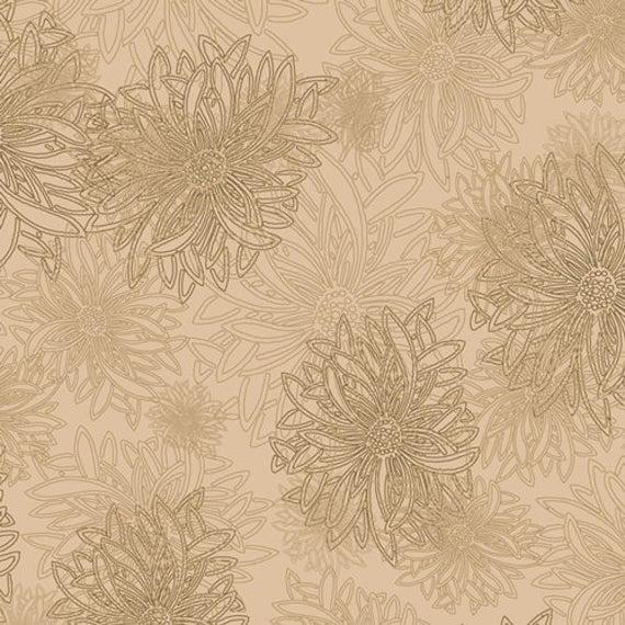 Floral Elements - Khaki