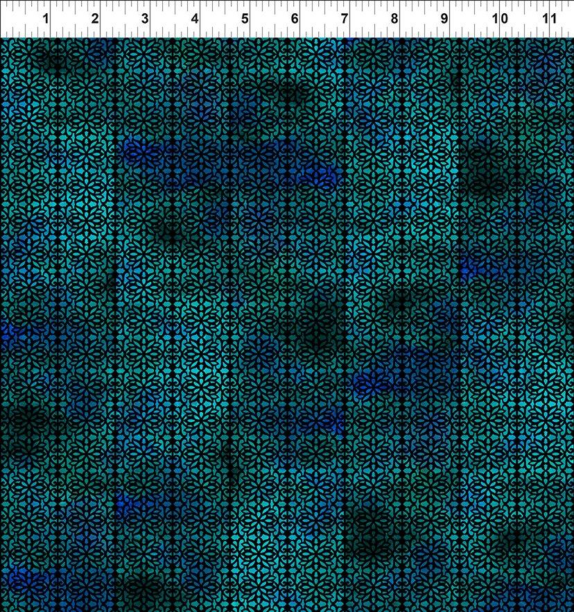 Floragraphix V - Green/Blue Filigree