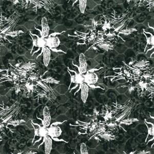 Bee Sweet Bees & Honeycomb - Black/White