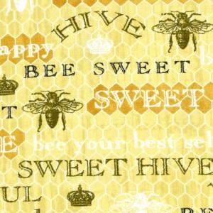 Bee Sweet Words on Honeycomb - Yellow