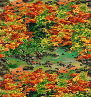 Autumn Blaze - Allover Scenic Print