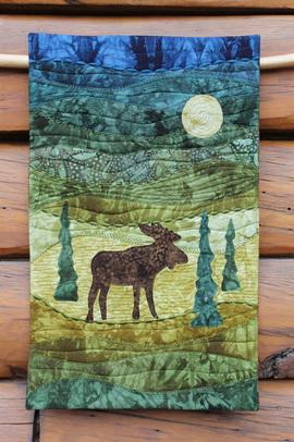 Moonlight Moose - Hand Dyes & Batiks