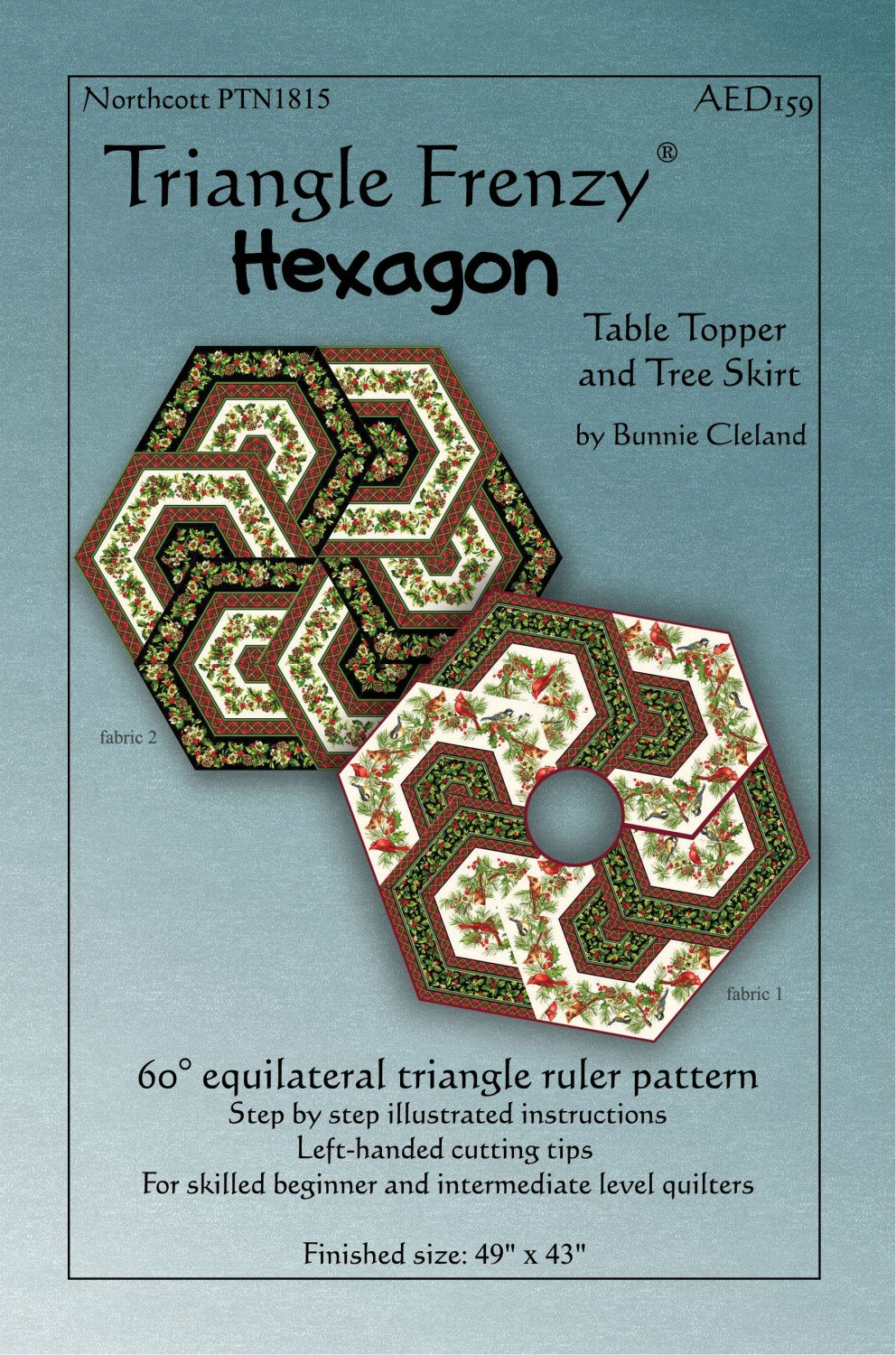Triangle Frenzy Hexagon Table Topper