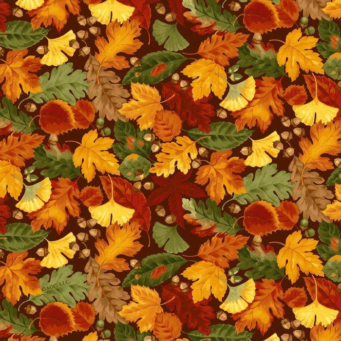 Harvest Leaves - Chocolate