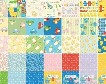 Baby Talk Charm Pack-40 Pieces