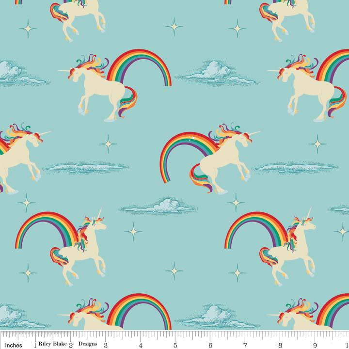 Unicorns & Rainbows C3710-Aqua
