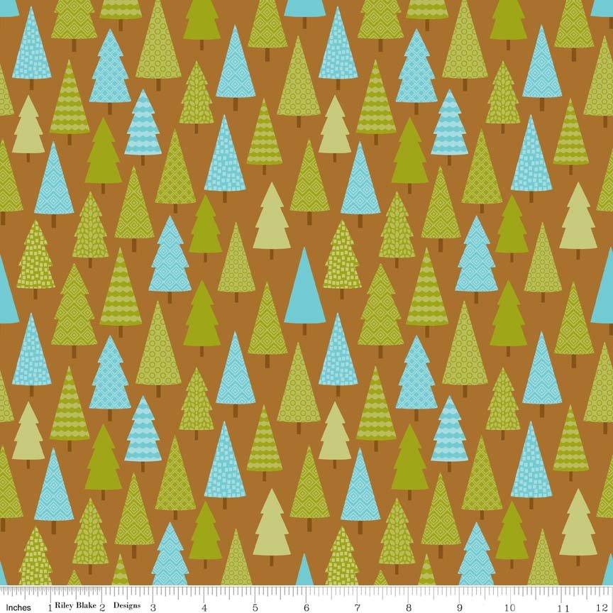 Happy Camper C4731 Brown - Trees