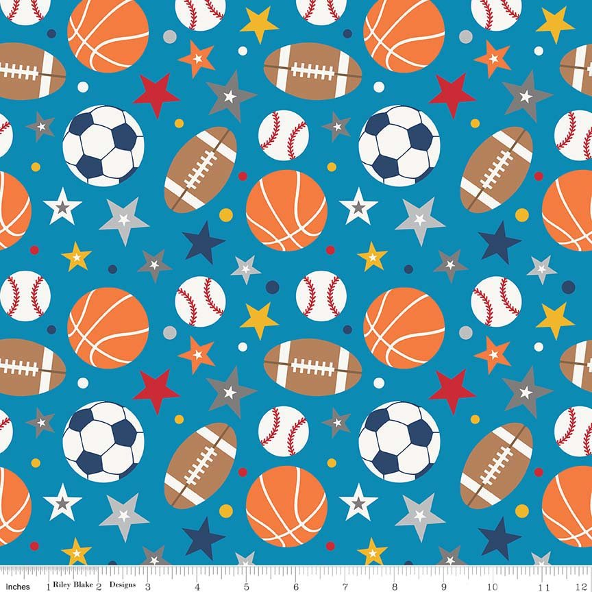 Play Ball 2 C5130 Blue Main Print