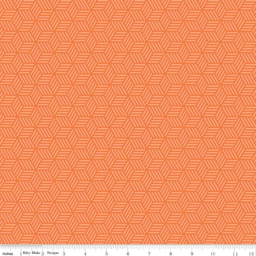 Play Ball 2 C5133 Orange Geometric Print