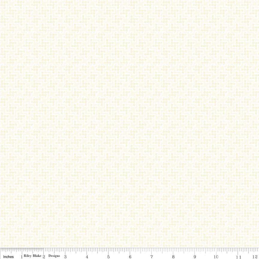 Shabby Strawberry C6045-Cream Houndstooth Print