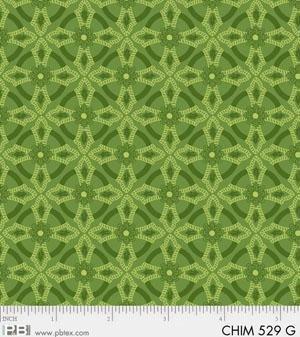Christmas Chimes - Green Geometric Print