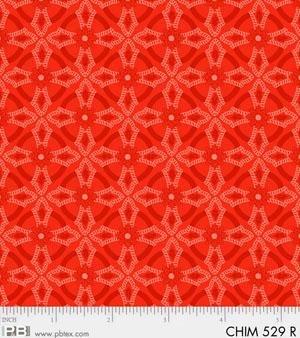 Christmas Chimes - Red Geometric Print