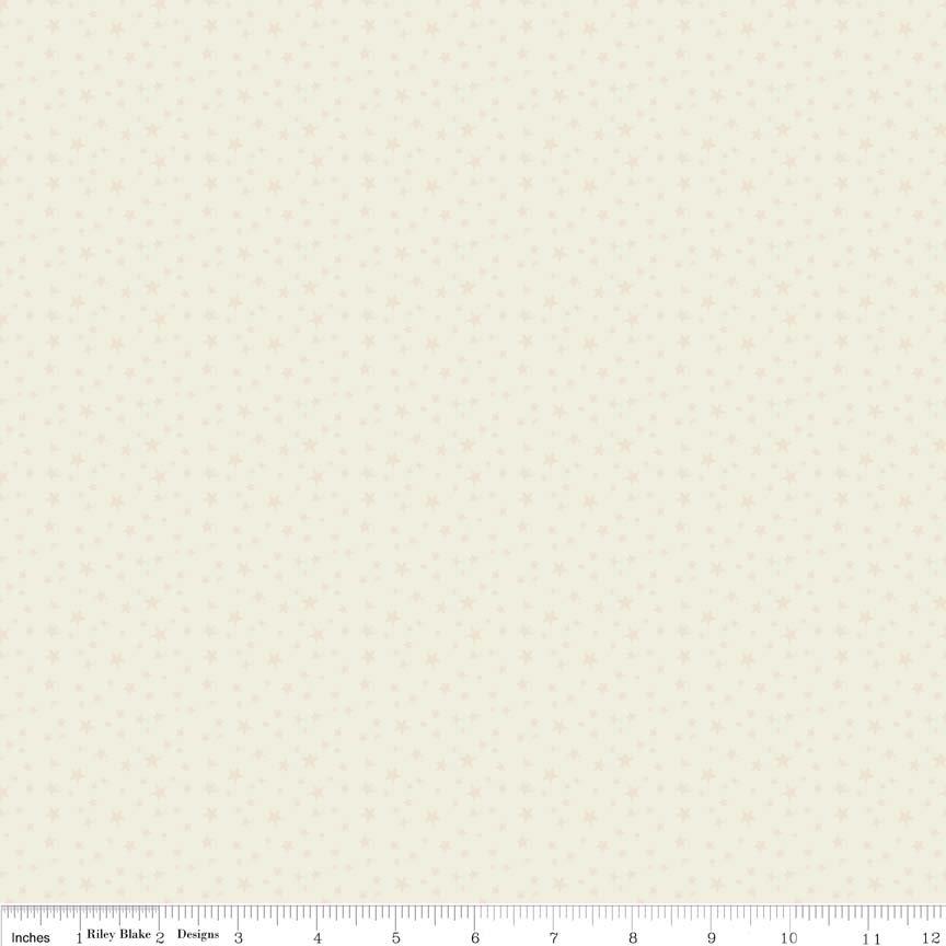 Rodeo Rider F4533 Cream Stars - Flannel