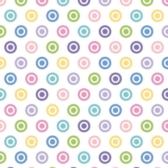 Bullseye Dot F520-51Multi-Color Girl Flannel