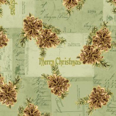 Christmas Memories - Green Pine Cones