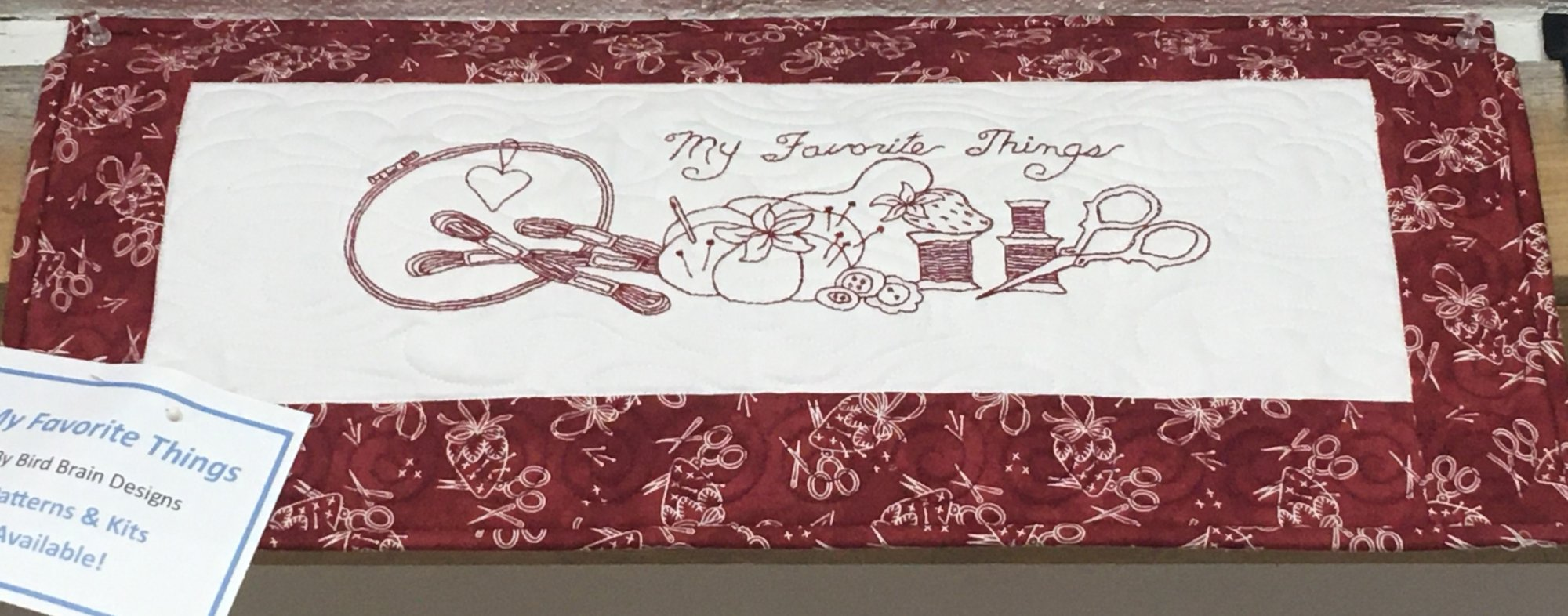 My Favorite Things Pre-embroidered Wall Hanging Kit