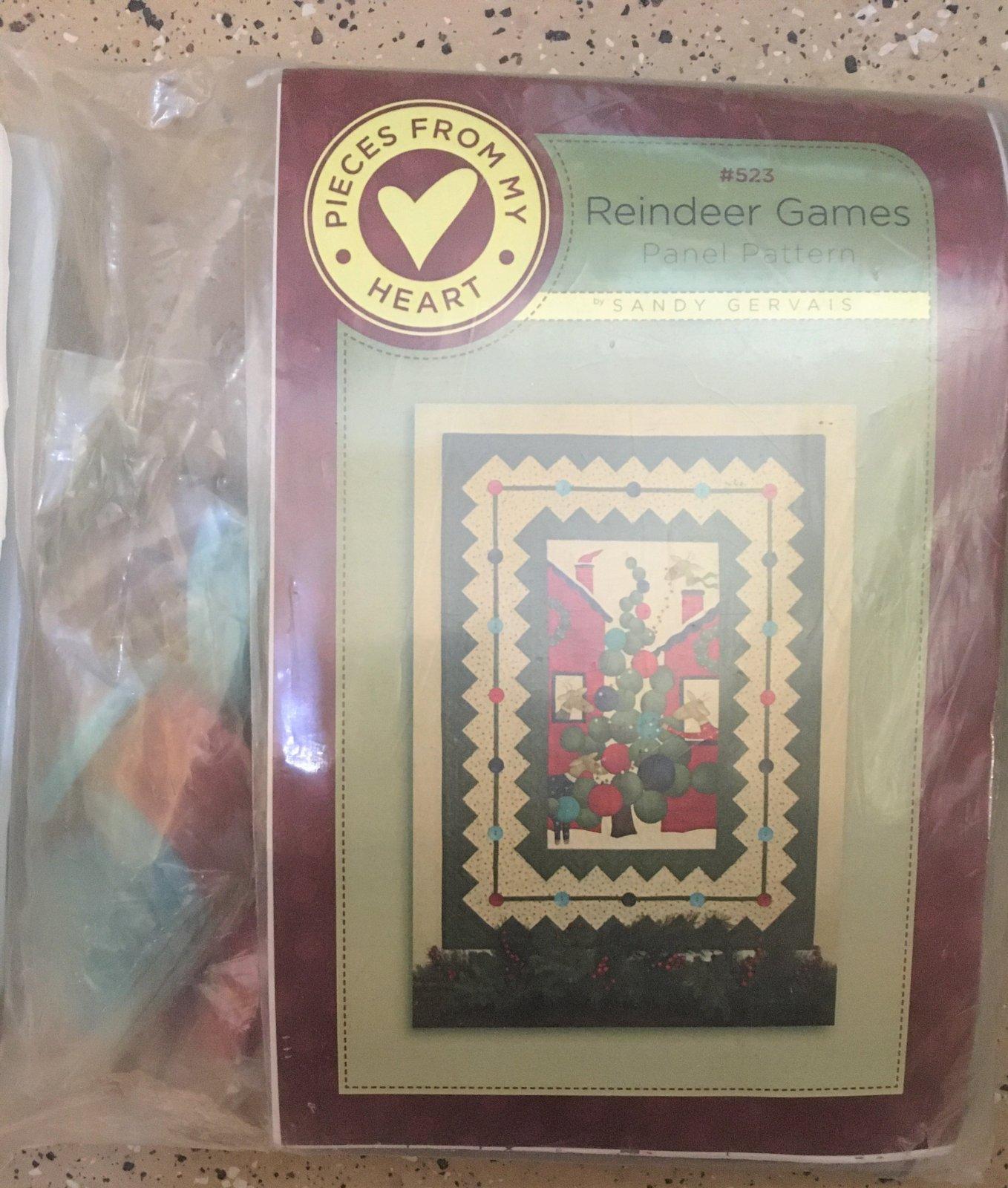 Reindeer Games Panel Pattern Kit