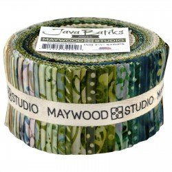 Java Batik Strip Roll - Moss