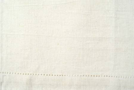 Tea Towel - White Solid with Eyelets