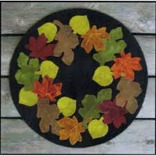 Leaf Pile Candle Mat Kit - 12 round