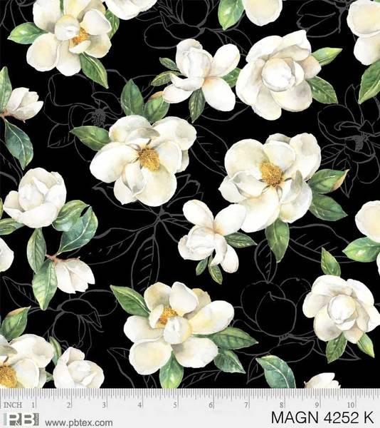 Cream Magnolias - Black